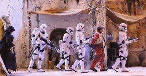 Foto Stormtroopers y Poe Dameron