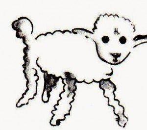 Dibujo del cordero.
