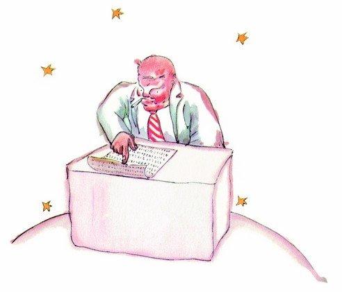 """Dibujo de """"El hombre de negocios""""."""
