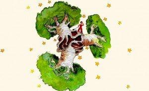 Dibujo de los baobabs.
