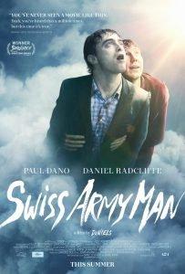 Portada película Swiss Army Man con Daniel Radcliffe como protagonista