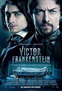 Portada película Victor Frankenstein con Daniel Radcliffe de protagonista