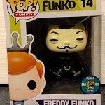 "Foto figura Número 14 ""Vendetta"" de la colección Freddy Funko"