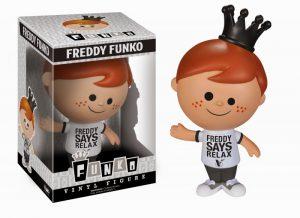 Imagen de Freddy en a colección Funko antes de tener su línea.
