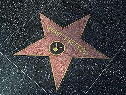 Foto de la estrella de Hollywood de la Rana Gustavo de Barrio Sésamo