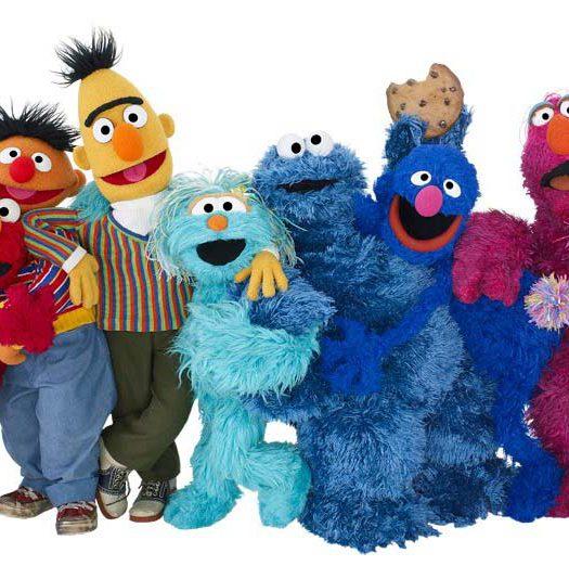 Foto varios personajes de Barrio Sésamo