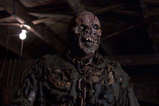 Foto de una escena de la película donde aparece Jason Voorhees resucitado