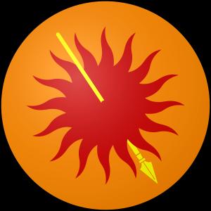Los Siete Reinos de Juego de Tronos. Escudo Casa Nymeros Martell de Lanza del Sol