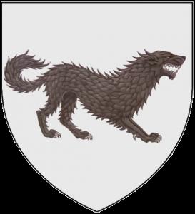Los Siete Reinos de Juego de Tronos. Escudo casa Stark de Invernalia