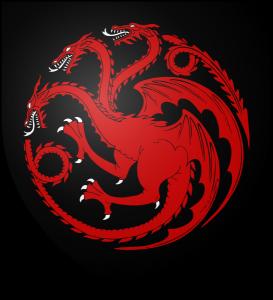 Los Siete Reinos de Juego de Tronos. Escudo Casa Targaryen