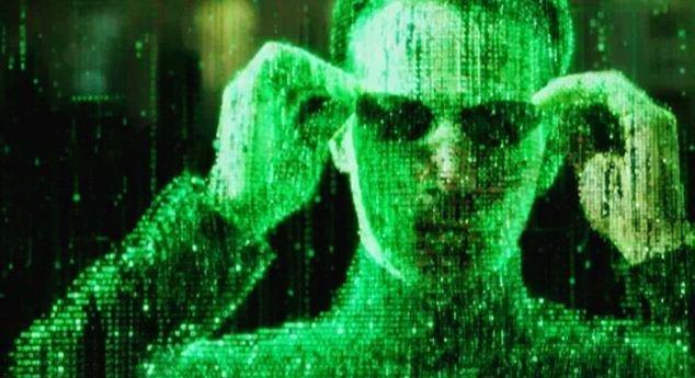 Foto simulada por ordenador de Neo, protagonista de Matrix