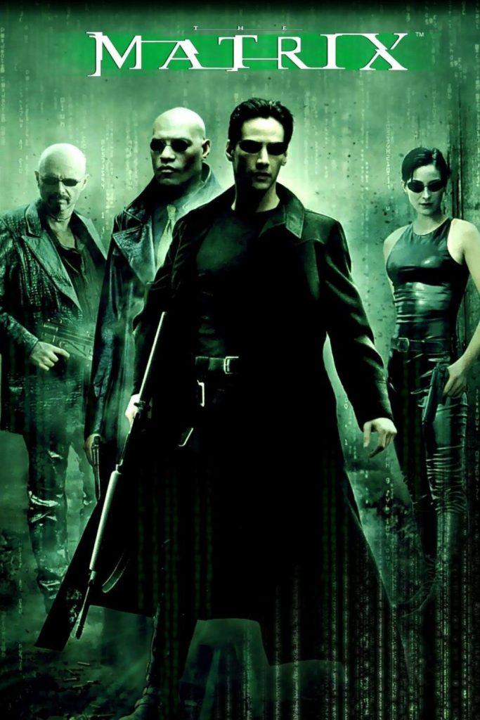 Foto película Matrix con cuatro actores
