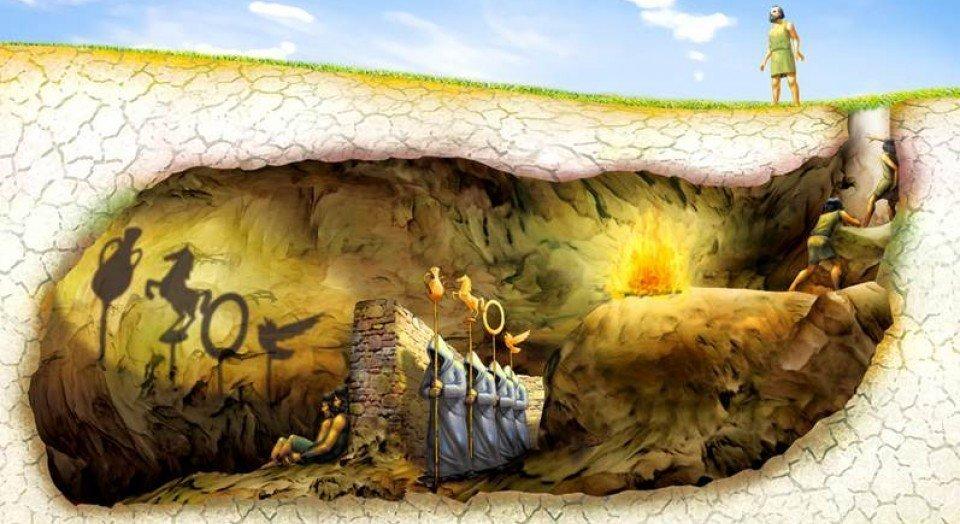 Foto de Platón y el mito de la caverna. Teoría que tiene similitud con la película Matrix