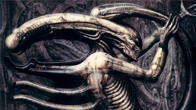 Foto pintura creada por el diseñador Scott y usada para crear a Alien
