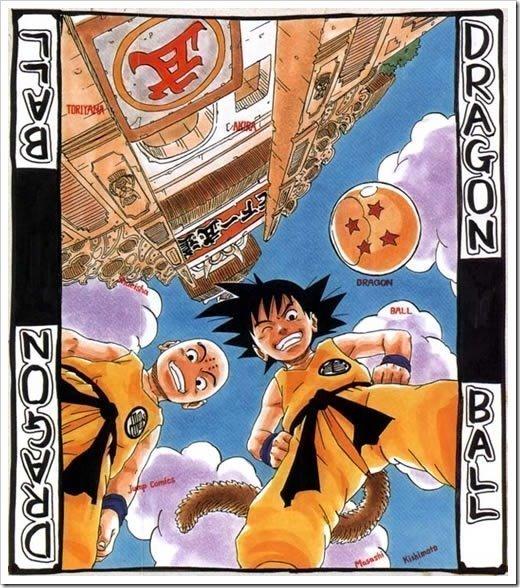 Dibujo de Goku hecho por Masashi Kishimoto