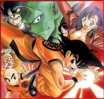"""Dibujo de Dragon Ball creado por Yasuhiro Kanō, creador de """"Pretty Face""""."""