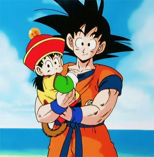 Foto Son Gokü con su hijo Gohan