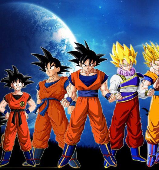 Foto distintas fases de Goku