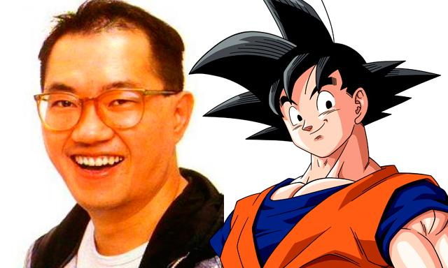Foto de Akira Toriyama con Goku
