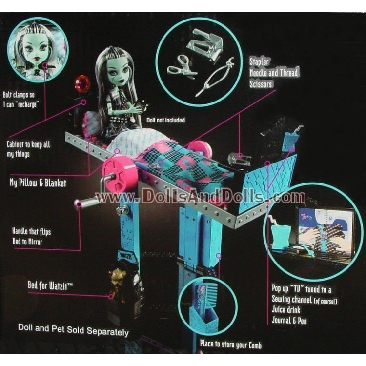 Mattel Monster High Doll Accessory - Frankie Stein Mirror Bed