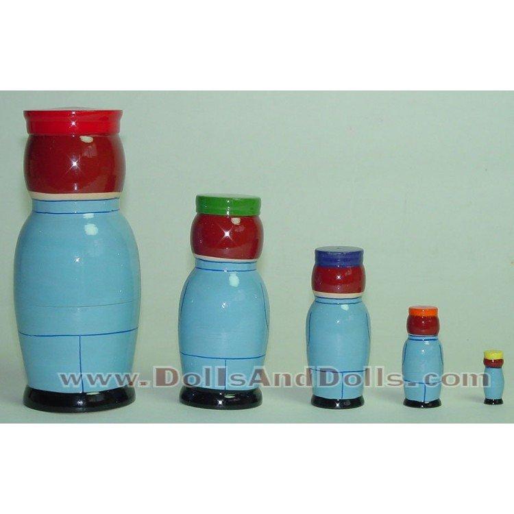 Matrioska muñeco ruso - Azul con estrella