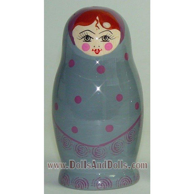 Matrioska muñeca rusa - Gris con lunares