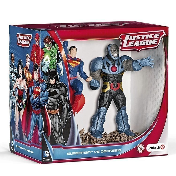 Schleich - La Liga de la Justicia - Pack Escenario Superman contra Darkseid