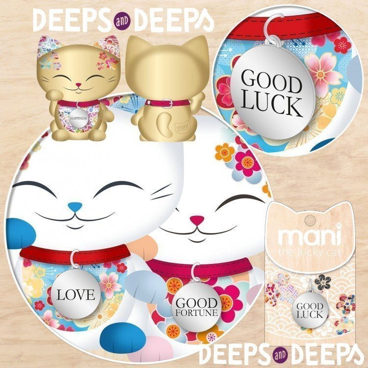 GOOD LUCK charm for Mani The lucky cat