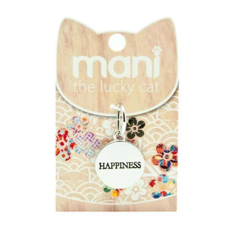 Medalla HAPPINESS para Mani El gato de la suerte
