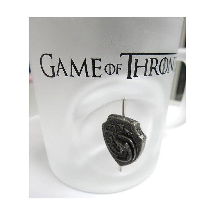 Taza de cristal 3D de Juego de Tronos Targaryen