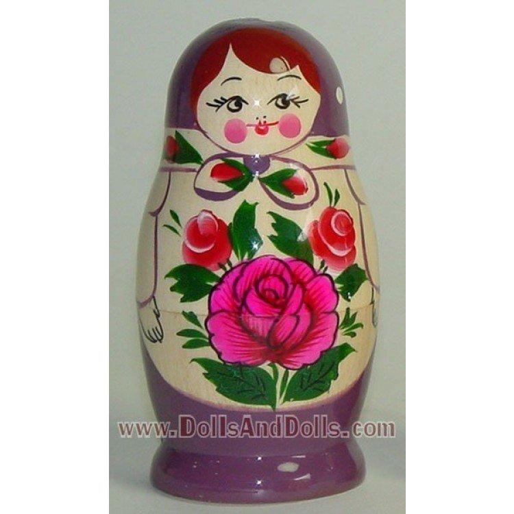 Matryoshka Russian doll - Purple with flower
