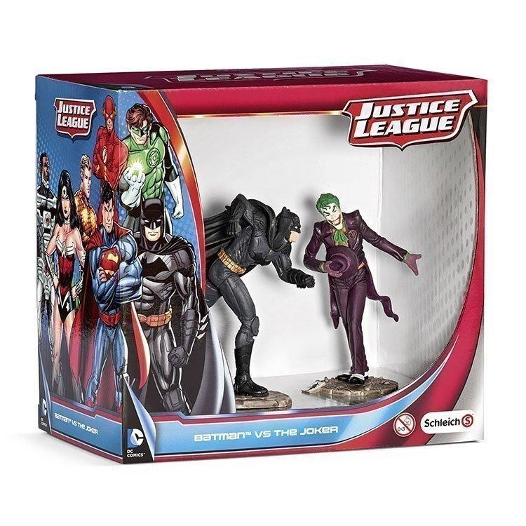 Schleich - Justice League - Batman vs The Joker Scenery Pack