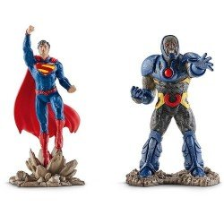 Schleich - Justice League - Superman vs Darkseid Scenery Pack
